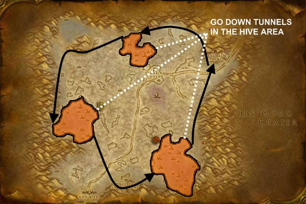 how to get to tanaris from thousand needles alliance